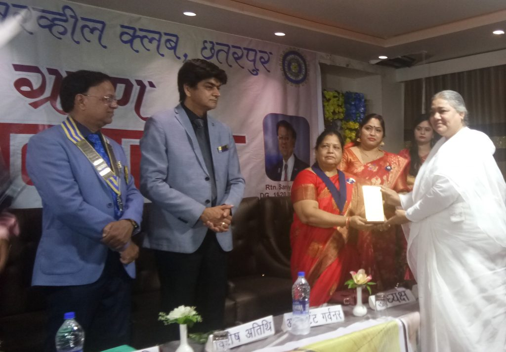 BK Shailja was honoured by Lions Club